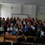 """Respublikinio projekto """"Ikimokyklinukų žiemos olimpiada 2016"""" dalyviai."""