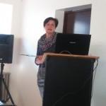 Pranešimą skaito Angelė Tranizienė