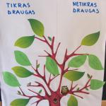 """""""Ąžuoliukų"""" grupės vaikų draugystės medis"""
