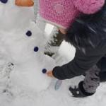 Sniego senį pastatysim...