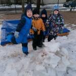Štai mūsų ledo pilis!
