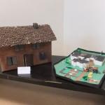 """Jono Lukausko (4 m.) šeimos kūrybinis darbas ,,Kavos namas Žibininkų kaime, Li epų gatvė"""" ir Justino Bertašiaus (3 m.) šeimos ,,Mylimas darželis"""""""