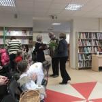"""Bibliotekos darbuotojų sveikinimai ,,Žilvino"""" bendruomenei"""