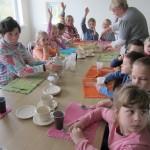 Vaišės su dienos centro lankytojais, darbuotojais