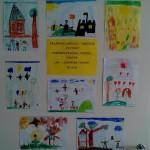 """Grupės """"Kriauklytės"""" vaikų piešinių paroda """"Aš – laimingas vaikas"""" Klaipėdos lopšelyje-darželyje """"Giliukas"""""""