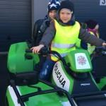 Smagui Lukui ir Arijui išmėginti policijos transportą