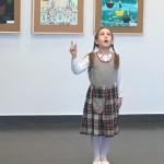Anos Marijos pasirodymas parodos atidarymo metu