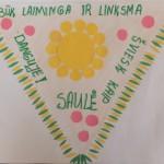 Saulina M. (6 m.), priešmokyklinio ugdymo pedagogė Rima Šivickienė, Tytuvėnų vaikų lopšelis-darželis
