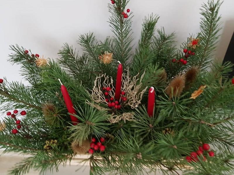 Šeimų kurtos kalėdinės dekoracijos