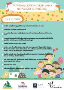 Patarimai 1-3 vaikams