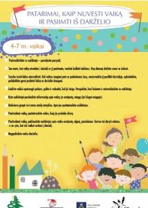 Patarimai 4-7 vaikams