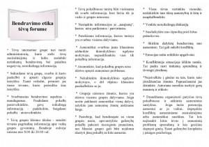"""Lankstinukas """"Bendravimo etika tėvų forume"""" (2 psl.)"""