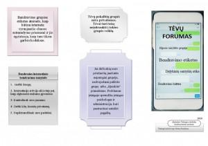 """Lankstinukas """"Bendravimo etika tėvų forume"""" (1 psl.)"""