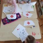 """Grupės """"Uosiukai"""" vaikai ketina tapti gydytojais."""